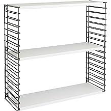 metaltex estantera modular metal 3 estantes 70 x 21 x 68 cm
