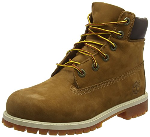 Timberland 6 In Classic Boot FTC_6 In Premium WP Boot 14749, Unisex-Kinder Stiefel, Braun (Rust Nubuck with Honey), EU 31 (US 13)