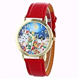 TianWlio Armbanduhren Damen Mode Beiläufige Quarzlederband Sternenklare Uhr Analoge Armbanduhr