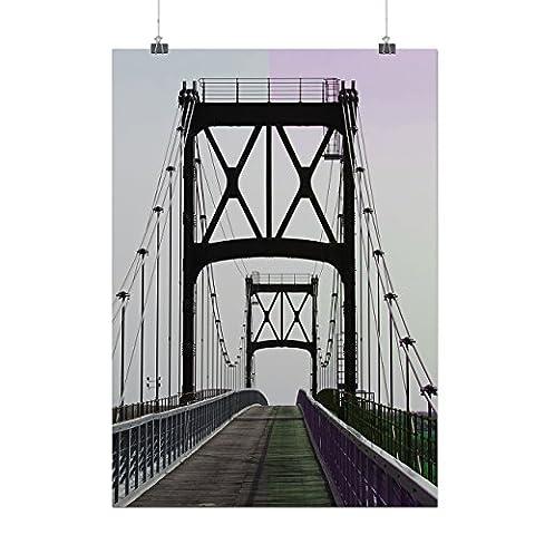 Pont Urbain Route Mode rivière Structure Matte/Glacé Affiche A4 (30cm x 21cm) | Wellcoda