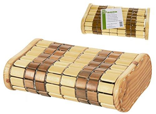 Flexibles Bambus Saunanackenkissen