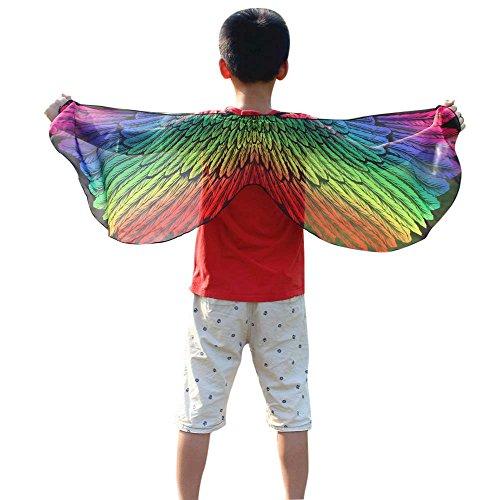 VEMOW Heißer Verkauf Kind Kinder Chmetterling Kostüm Jungen Mädchen Böhmischen Schmetterlingsschal Pashmina Cosplay Party Kostüm Zubehör(X1-Mehrfarbig, 118 * 48CM)