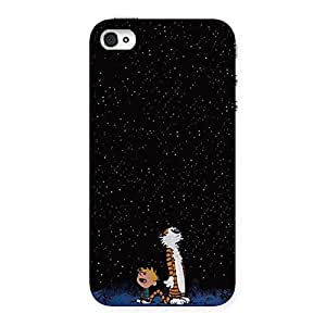Stylish Counting Stars Multicolor Back Case Cover for iPhone 4 4s