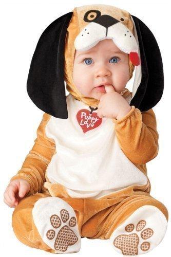 Baby Kostüm Jungen Mädchen Verkleidung Welpe Hund Figur Tier Halloween Weihnachten Fototermin Outfit - Braun, 86 - 12-18 (Kostüme Halloween Für Mädchen Hunde)