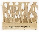 Zeitungsständer Zeitschriftenhalter Zeitschriftenständer Design NEWS aus Holz - Information is