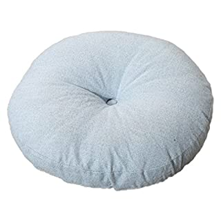 Nunubee Sky Blue Flax Seat Cushion Pillows Leg Rest Pillow for Home and Chair Cushions 50X50 CM