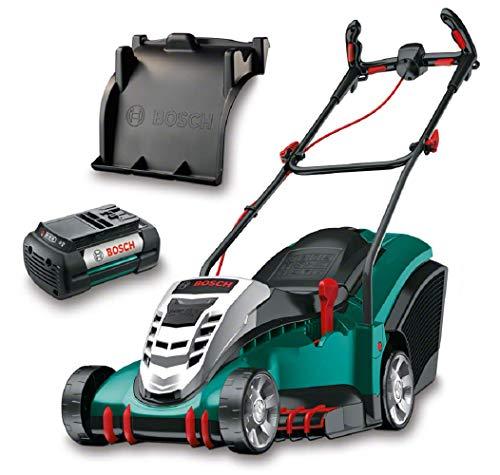 Bosch Rotak 430 LI Rasaerba a Batteria, 2 Batterie, 36 Volt, Larghezza e Altezza di Taglio 43 cm/2 - 7 cm