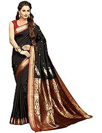 Craftsvilla Silk Saree With Blouse Piece (MCRAF17552329300_Black_Free Size)