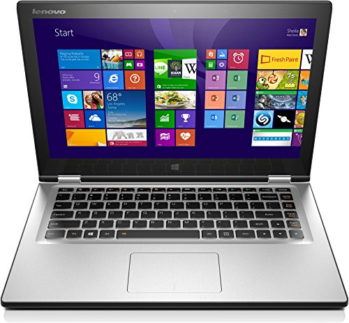 Lenovo Yoga 2 13 33,8 cm (13,3 Zoll FHD IPS) Convertible Ultrabook (Intel Core i5-4210U, 2,7GHz, 8GB RAM, 256GB SSD, Intel HD Graphics 4400, Touchscreen, Win8.1) hellsilber - Lenovo Yoga Ultrabook 2