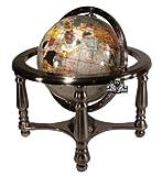 Unique Einzigartige Kunst 25,4cm hoch Pearl Swirl Ocean Edelstein World Globe mit 4Bein Silber Ständer