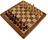 BKRAFT4U 12' x 12' Chess Set Sale- Handmade Wooden Rosewood Foldable Magnetic Chess Game Board with Storage Slots, 12 inch.