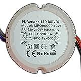 12W LED Trafo 12V DC 0,5 - 12 Watt RUND Netzteil Treiber G4 GU4 MR16 MR11 Transformator