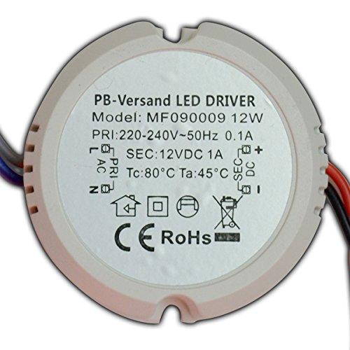 Mini LED Leuchmittel Trafo 12V DC 12 Watt RUND Netzteil Treiber G4 GU4 MR16 MR11 Transformator - Kegel-wand-lampe