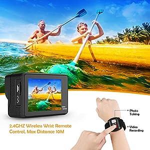 WiMiUS-Action-Cam-4K-WiFi-Ultra-HD-Actioncam-4K-Unterwasserkamera-170-weitwinkel-Objektiv-mit-2-Akkus