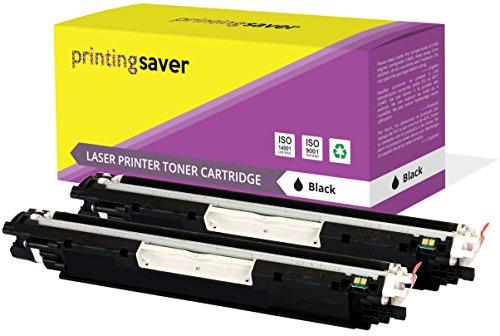 A 126A Set 2 SCHWARZ Toner kompatibel für HP Color Laserjet Pro CP1025, CP1025NW, CP1020, 100 MFP M175A, M175NW, 200 MFP M275A, M275NW, TopShot Laserjet M275 drucker ()