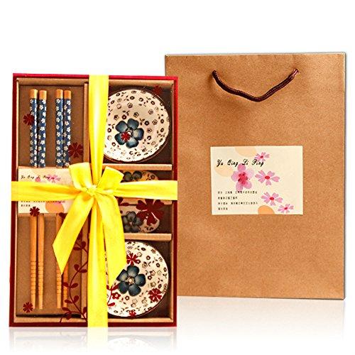Descripción del producto: Patrón: cerezo. 6 piezas. Color: azul, amarillo, rosa, verde (color aleatorio). Incluye: juego de servicio de sushi.