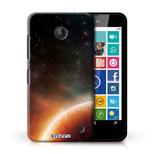 Kobalt® Imprimé Etui / Coque pour Nokia Lumia 635 / Nébuleuse Pourpre conception / Série Cosmos Planète Orange