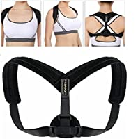Back Posture Corrector for Women and Men Lumbar Support - Adjustable Posture Back Brace support Corrects Office desk Computer-Related standing Posture Problems - Spinal Support Humpback Neck, Back and Shoulder Pain