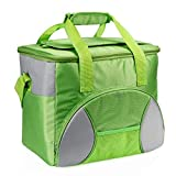 INTEY Cool Bag 20L Large Insulated Picnic Cooler Bag With Carrying Strap Camping Family Lunch Bag for Men and Women (Green)