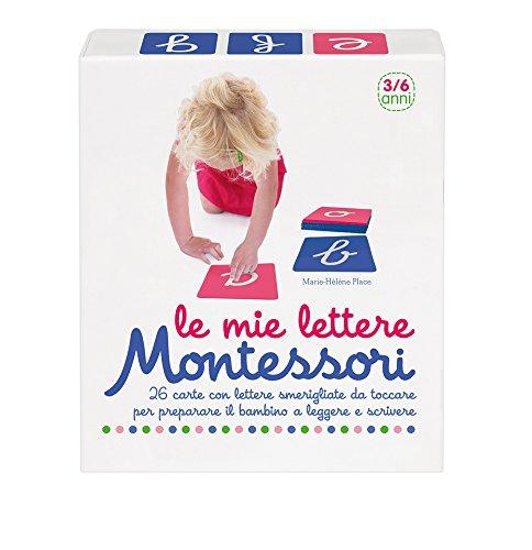 Le mie lettere. Montessori. 26 carte con lettere smerigliate da toccare per preparare il bambino a leggere e scrivere
