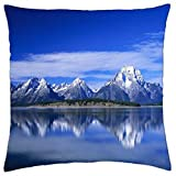 Snow Capped Mountains - Throw Pillow Cover Case (18
