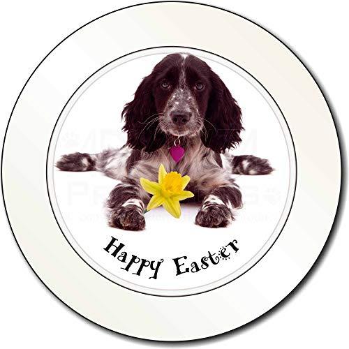 Advanta - Permit Holders 'Happy Easter' Cocker Spaniel Auto/Van-BBPV/Tax Disc Geschenk - Daffodil Fine Art