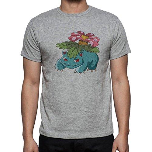 Pokemon Venusaur Third Generation Big Flower Herren T-Shirt Grau
