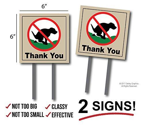 2Schilder, keine Pooping, Hund Poop Yard Zeichen, Thank You -
