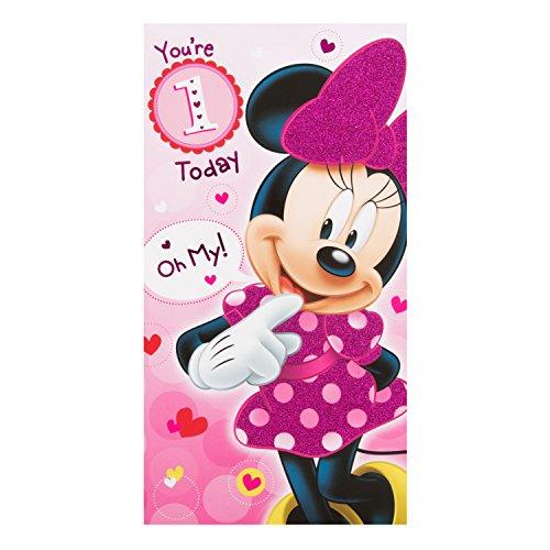 Hallmark Minnie Mouse 1. Geburtstag Karte