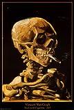 Poster 'Totenkopf mit Zigarette, 1885', von Vincent van Gogh, Größe: 61 x 91 cm