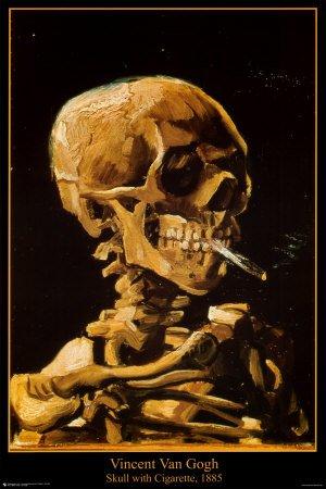 Póster 'Calavera con cigarrillo, 1885', de Vincent van Gogh,...