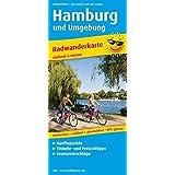 Hamburg und Umgebung: Radwanderkarte mit Ausflugszielen, Einkehr- & Freizeittipps, wetterfest, reissfest, abwischbar, GPS-genau. 1:100000