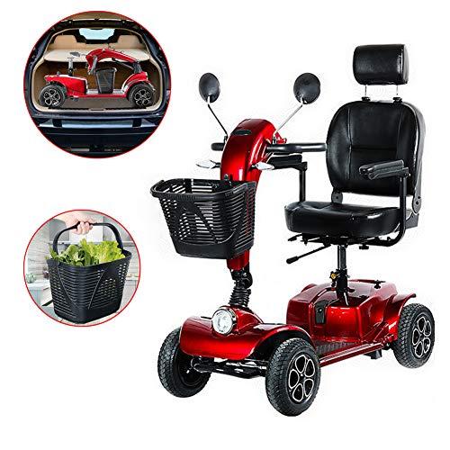 Rabbfay Scooter Portatile Pieghevole E Leggero con Freno Intelligente, Scooter Elettrico da Viaggio con Cambio Manuale/Elettrico per Anziani Adult