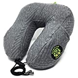 Luxury Neck Pillow by Martian Travel with a Shredded Memory Foam Cushion –