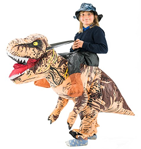 Aufblasbares Deluxe Dinosaurier Kostüm für Kinder Tiere Zoo -