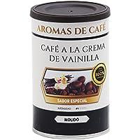 Aromas de Café - Café a la Crema de Vainilla 100% Arábica Ligeramente Tostado Sabor Intenso a Vainilla Molido,.
