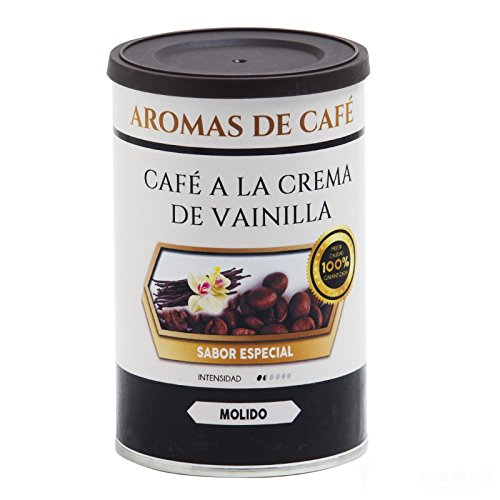 Aromas de Café - Café a la Crema de Vainilla Compatible Cápsulas Nespresso 100% Arábica Ligeramente Tostado Sabor Intenso a Vainilla, 10 Cápsulas