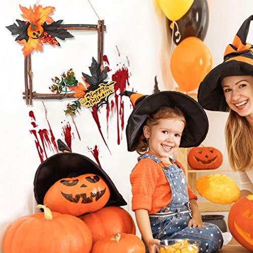 Halloween Hängen Ornament Holz Schwarz Kürbis Sternform Wand Ornament Hängen Dekor für Haus Bar Hausgarten Party - Beängstigende Kürbis Kostüm