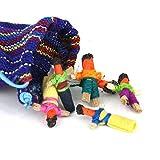 Muñecas quitapenas de Guatemala hechas a mano, comercio justo maya, 2,5 cm (bolsa de 6 unidades)