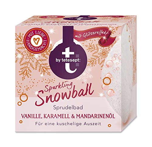 T: by Tetesept Sparkling Snowball Sprudelbad, mit wertvollen Ölen für ein samtig-zartes Hautgefühl, 3er Pack (3 x 165 g)