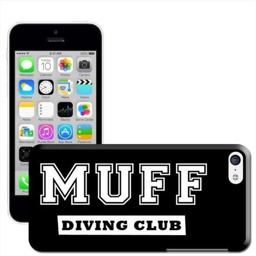 Nus Coque arrière rigide détachable pour Apple iPhone modèles, plastique, Wanker Anchor, iPhone 5C Muff Diving Club