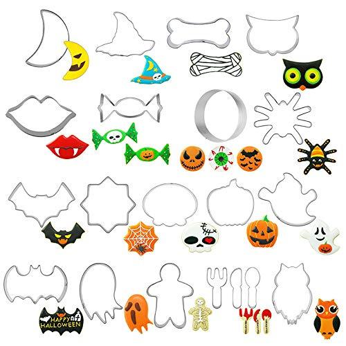 formen Halloween Cookie Form Set Fondant Kekse Diy Werkzeuge Hause Bat Edelstahl Kekse Sterben Backen ()
