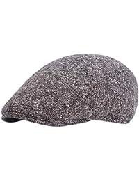 LAAT Gorros de Boina de Algodón Sombreros de Sol al Aire Libre Gorra Gatsby  Invierno Tendencia Hombre Tradicional Boina Size 55-69… adee0d38a96