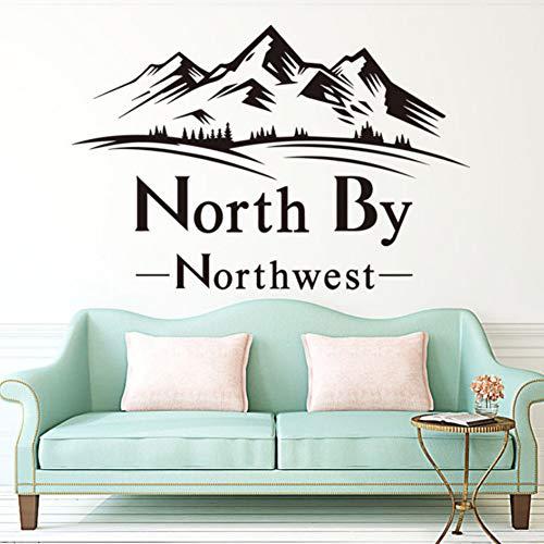 Yzybz Kunst New Design Haus Dekor Vinyl Northwest Wall Decals Entfernbare Raumdekoration Landscope Pflanze Aufkleber (North Halloween West,)
