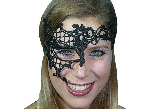 Vampir-maske Für Erwachsene (HO-Ersoka Damen Augenmaske asymmetrisch Spitze Stickerei Maskenball Venezia schwarz)