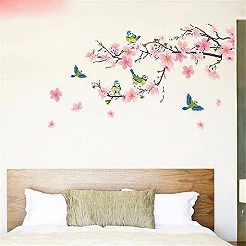 XJKLFJSIU Autocollants De Mur De Chambre Décoration Style Chinois Mural Autocollants Maison Salon Tv Fond Imperméable Autocollant, Extra-Large