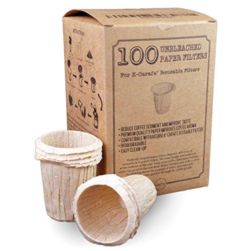 canFly Premium-Einweg-Papierfilter für K-Karaffe Wiederverwendbare Kaffee-Filter für 4-CUP Braun ungebleichte 100 - Filter Keurig Karaffe