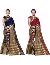 SKY GLOBAL Women's Cotton Silk Saree Combo (Sky_Combo_2292)