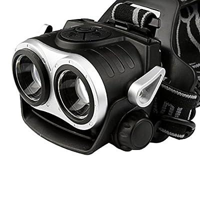 Scheinwerfer, BBring 10000Lm 2x T6 aufladbare 18650 LED-Scheinwerfer, Kopfleuchte, Taschenlampe, USB