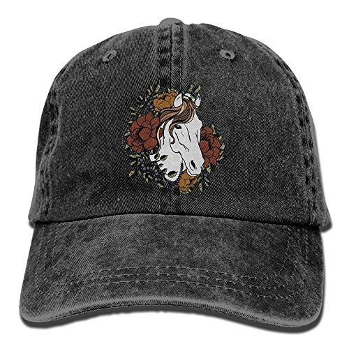 XF-Caps Baseball Kappe White Horse Rose Adult Cowboy Baseball Caps Denim Hats for Men Women
